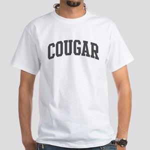 Cougar (curve-grey) White T-Shirt