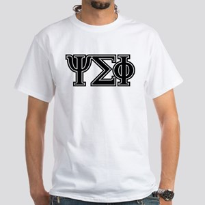 Psi Sigma Phi Letters White T-Shirt