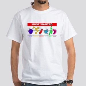 Most Wanted Poster White T-Shirt