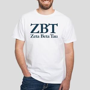 Zeta Beta Tau Fraternity Letters an White T-Shirt