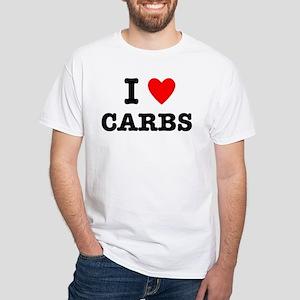 I Love Carbs Funny Diet White T-Shirt
