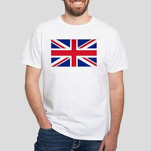 Britain Flag White T-Shirt