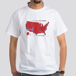Trump vs Clinton Map White T-Shirt