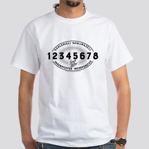 Laverne and Shirley Numbers Design White T-Shirt