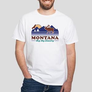 Montana Big Sky Country White T-Shirt