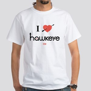 I Heart Hawkeye Red White T-Shirt