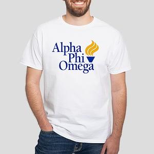 Alpha Phi Omega Fraternity Logo White T-Shirt