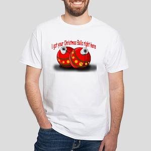 Christmas Balls White T-Shirt