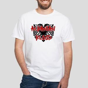 Albanian Blood White T-Shirt