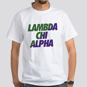Lambda Chi Alpha Athletic White T-Shirt
