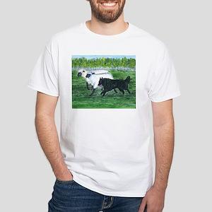Belgian Sheepdog Herding White T-Shirt