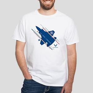 USAF Air Space Cyberspace White T-Shirt