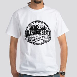 A-Basin Old Circle Black White T-Shirt