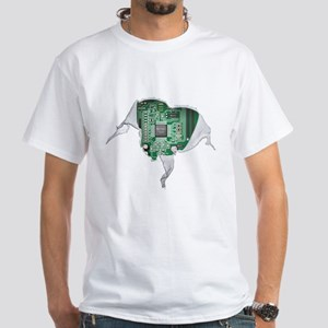 Motherboard Heart White T-Shirt