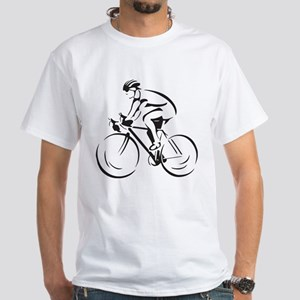 Bicycling White T-Shirt