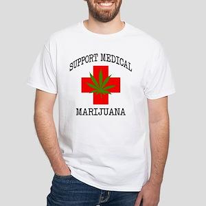 Support Medical Marijuana White T-Shirt