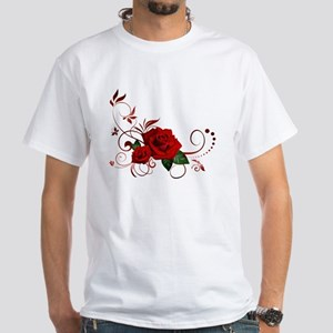 red roses White T-Shirt