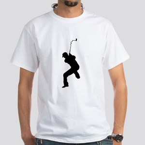 Angry Golfer White T-Shirt