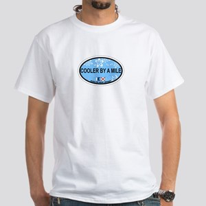 Avalon NJ - Oval Design White T-Shirt