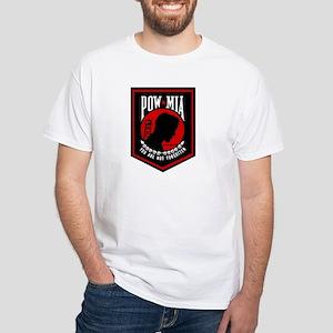 POW MIA (Red) White T-Shirt