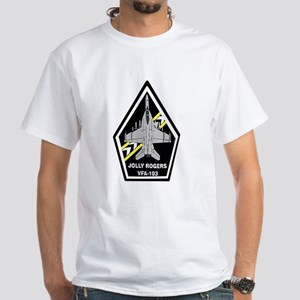 VFA 103 Jolly Rogers White T-Shirt
