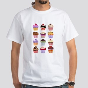 Dozen of Cupcakes White T-Shirt