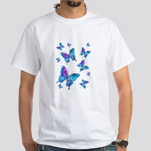 Electric Blue Butterfly Flurry Women's T-Shirt