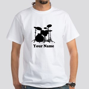 Personalized Drums White T-Shirt