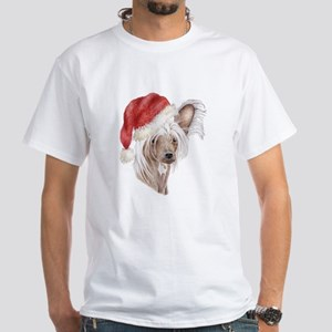Christmas Chinese Crested dog White T-Shirt