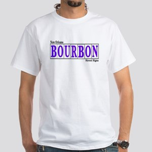 New OrleansBourbon St.White T-Shirt