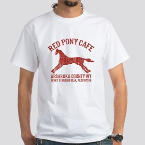 Longmire Red Pony White T-Shirt