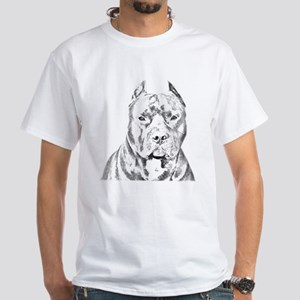 Pit Bull Head White T-Shirt