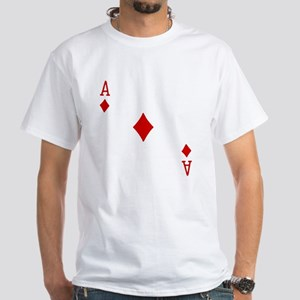 Ace of Diamonds White T-Shirt