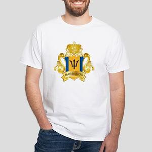 Gold Barbados White T-Shirt