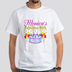 SNAZZY 60TH DIVA White T-Shirt