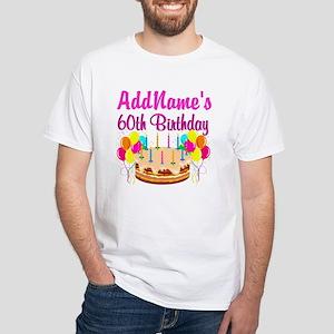 AMAZING 60TH White T-Shirt