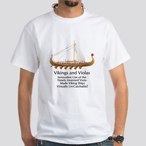 Vikings and Violas White T-Shirt
