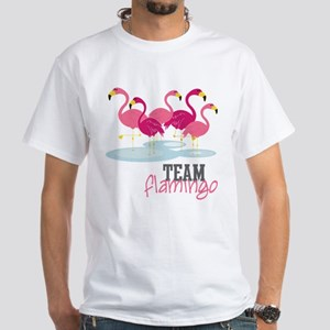 Team Flamingo White T-Shirt