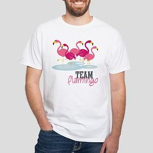 Team Flamingo White T-Shirt