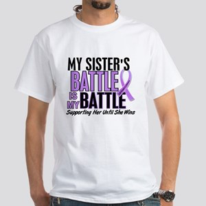 My Battle Too Hodgkin's Lymphoma White T-Shirt