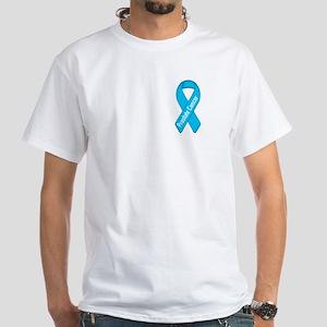 Prostate Cancer White T-Shirt