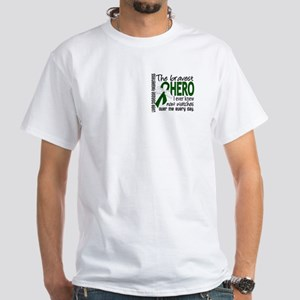 Bravest Hero I Knew Liver Disease White T-Shirt