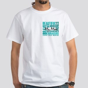 Tribute Square Ovarian Cancer White T-Shirt