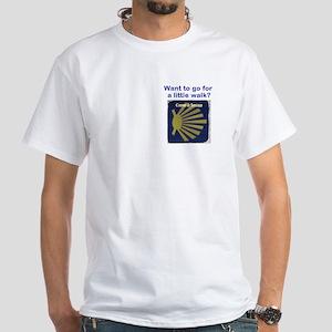 Let's Walk White T-Shirt