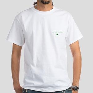 Support Farming White T-Shirt