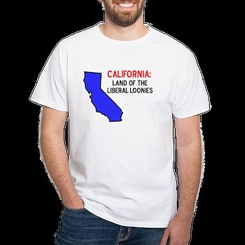 Anti Liberal California White T Shirt Anti Liberal California