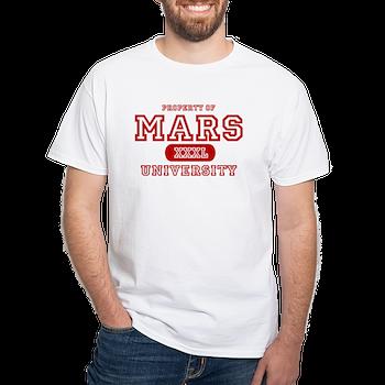 Mars University Property White TShirt Mars University Property T - Property of t shirt template