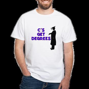 c s get degrees white t shirt c s get degrees weird t shirts