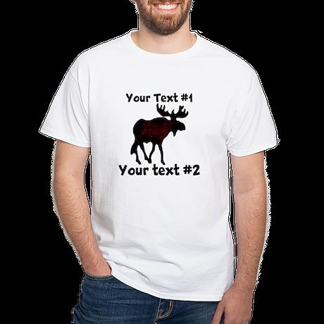 Customizeable Moose White T-Shirt