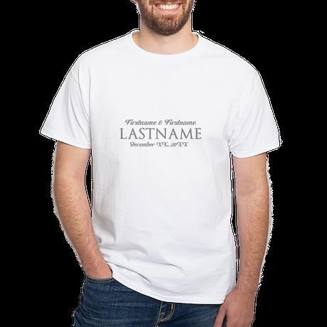Wedding Favor Bride Groom GRAY T-Shirt
